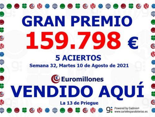 Euromillones 160.000 sorteo Nigran Priegue Raquel Beiro